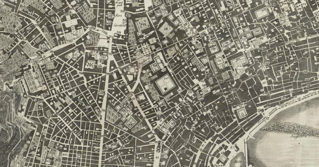 Giovanni Carafa duca di Noja, Mappa topografica della città di Napoli e de' suoi contorni, Napoli 1750-75, part.